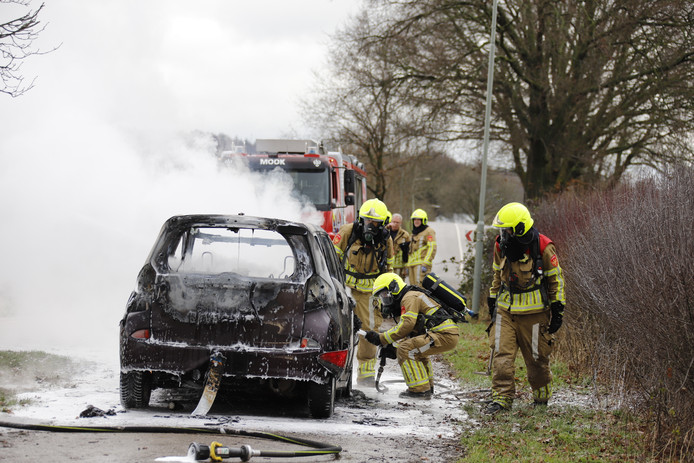 De brand is geblust in Middelaar.