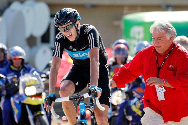Chris Froome tijdens de Vuelta 2011.