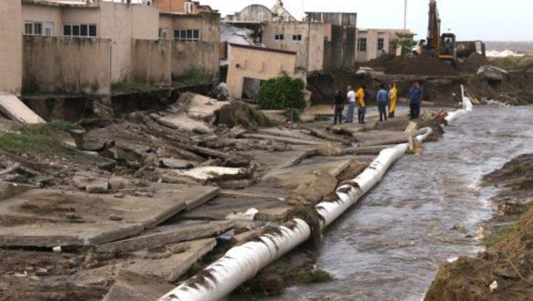 Mexico wordt geteisterd door aardverschuivingen. Foto ANP/EPA Beeld