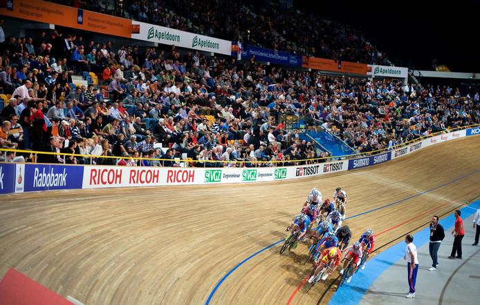 Een indruk van de vorige keer dat het WK baanwielrennen in Apeldoorn was; in 2011.