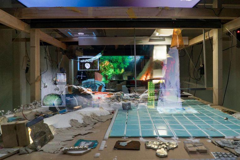 Het ene atelier in de Rijksakademie is opgeruimder dan het andere. Beeld Tomek Dersu Aaron