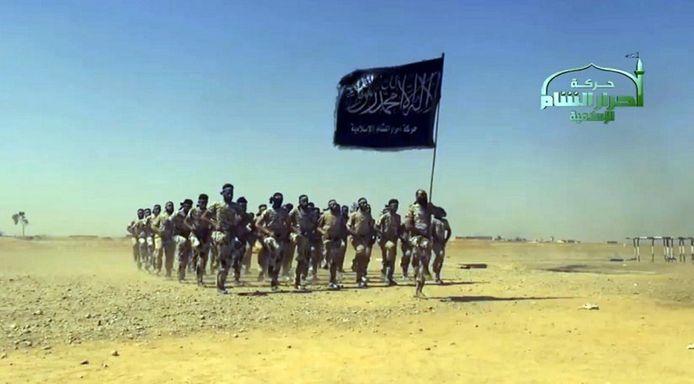 Strijders van Ahrar al-Sham in 2016.