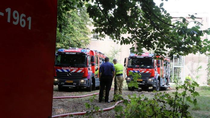 De brandweer was vandaag weer in touw op Haarendael