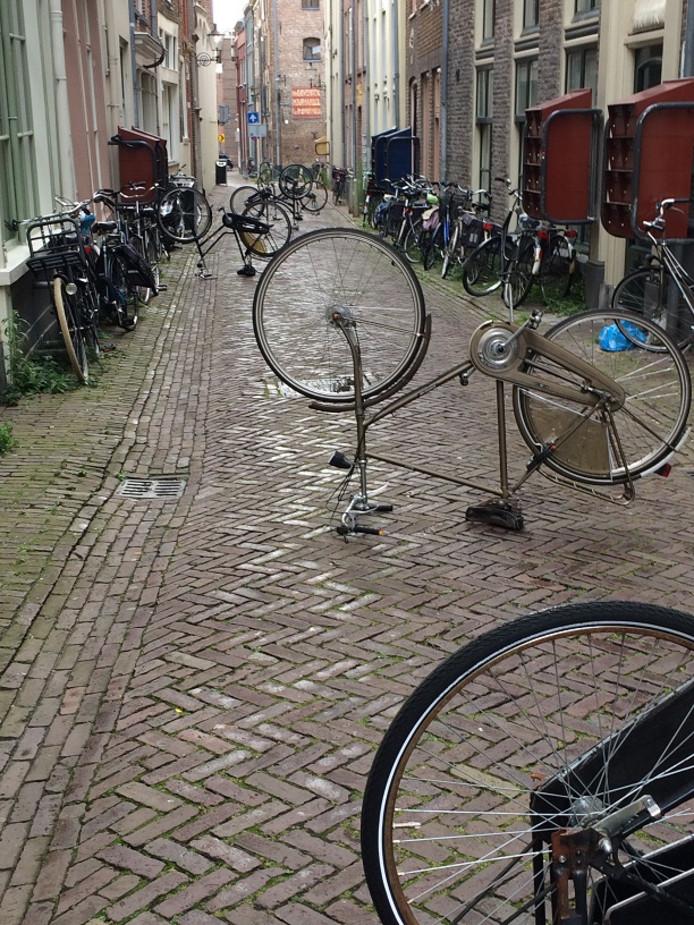 De Assenstraat in Deventer zag er zaterdagochtend zo uit.
