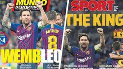 Catalaanse krant geeft Messi 10 op 10 en zelfs Madrileense media loven hem