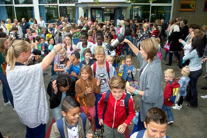 De eerste schooldag op De Burchtgaarde in Breda.