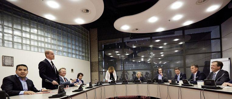 Kamerleden overleggen over het nieuwe leenstelsel voor studenten. Beeld anp
