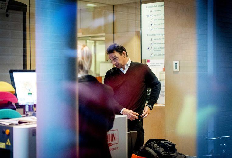 Willem Holleeder komt aan bij de rechtbank van Haarlem in december 2014. Beeld anp