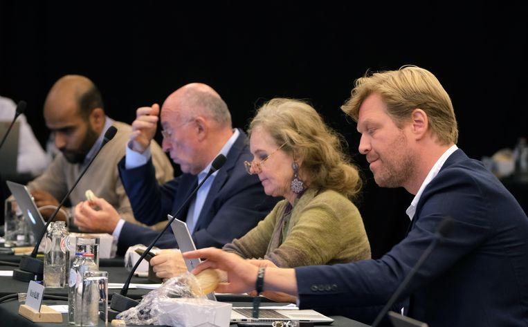 Vlnr.: Mohamed Ahouna, Koen Byttebier, Moniek Gheysens en Wouter Allijns.