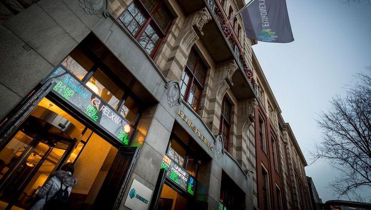 Ook in Amsterdam stonden de technologiebedrijven onder druk in navolging van de koersverliezen in Azië en New York. Beeld anp
