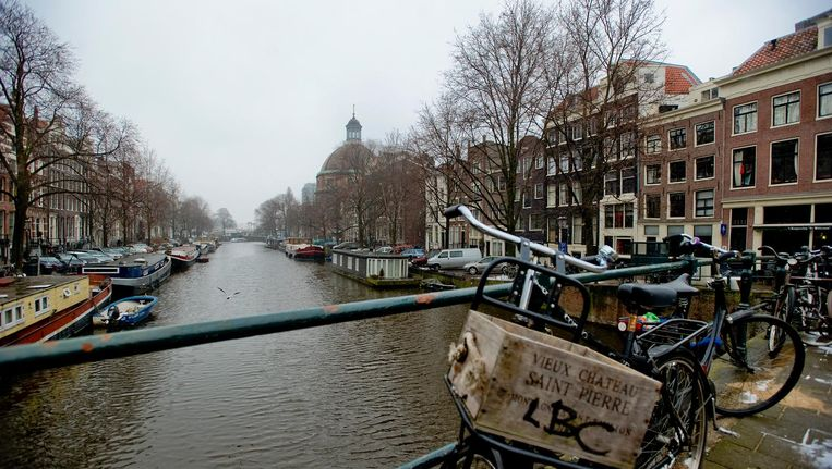 Het Singel in Amsterdam. Beeld null