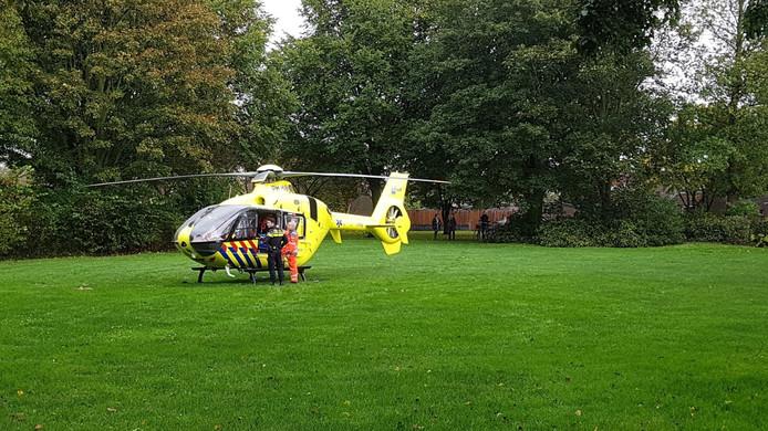 De baby is vanmiddag in Diemen zwaargewond geraakt en met zware verwondingen overgebracht naar het ziekenhuis.