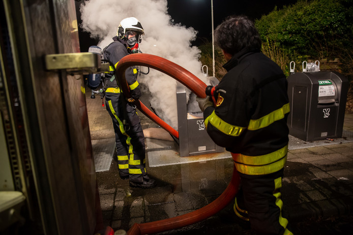 Containerbrand Roosendaal.