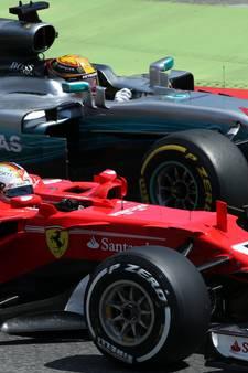 Hamilton verslaat Vettel na heerlijk gevecht, Verstappen valt uit in Spanje
