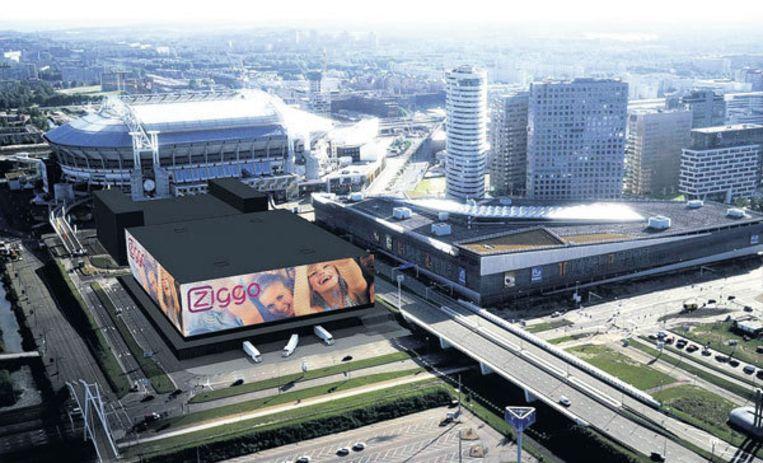 Impressie van de Ziggo Dome, die in 2011 zijn deuren opent. Beeld