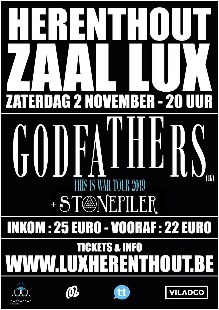 De affiche van de optredens het komende weekend in Zaal Lux