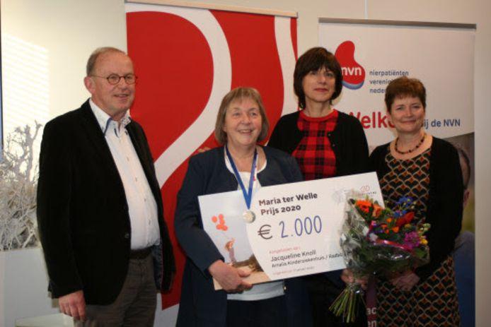 Jacqueline Knoll uit Nijmegen krijgt de Maria ter Welle Prijs 2020 voor haar jarenlange en intensieve inzet voor kinderen met een nierziekte.