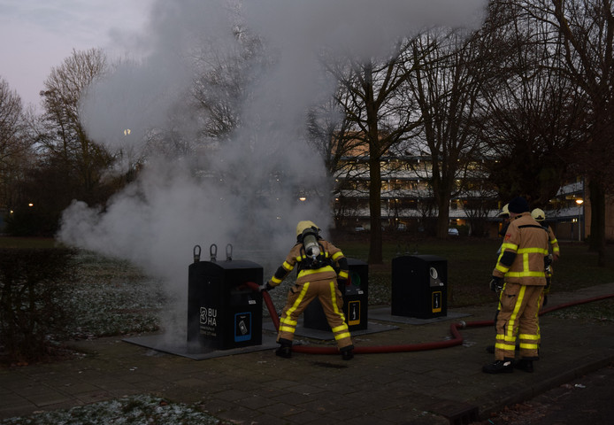 Container vat vlam in Doetinchem.