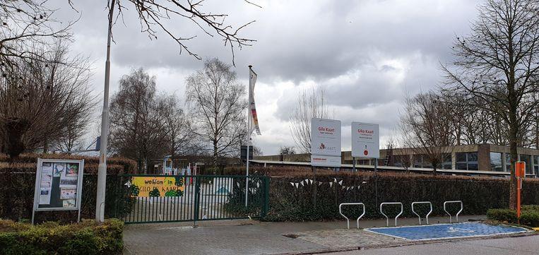 Op de site van de gemeenteschool GILO de Kaart, Giko Kaart, vrije basisschool De Vlinder en zaal Berkenhof komt het project.