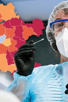 KAART   Besmettingen in Hardenberg fors gestegen, nul positieve tests in Oldebroek