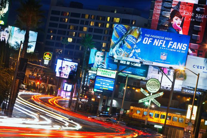Sunset Boulevard, l'une des rues les plus célèbres de Los Angeles.