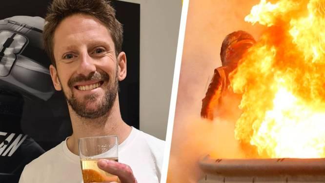 """Romain Grosjean is even verlost van verband en toont toegetakelde hand: """"Ik draag mijn trouwring opnieuw"""""""