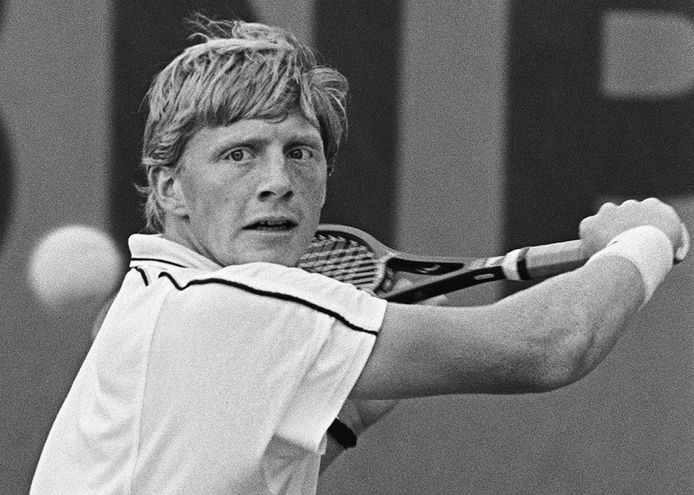 Boris Becker op een arvieffoto van 1986.