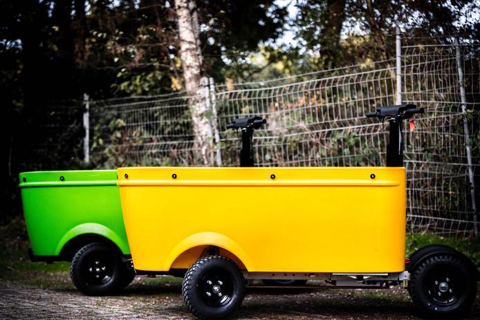 Een elektrisch aangedreven voertuig van Stint Urban Mobility.