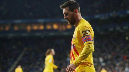 Zuur puntenverlies voor Messi en co: Barça geeft na rood De Jong zege weg tegen hekkensluiter Espanyol