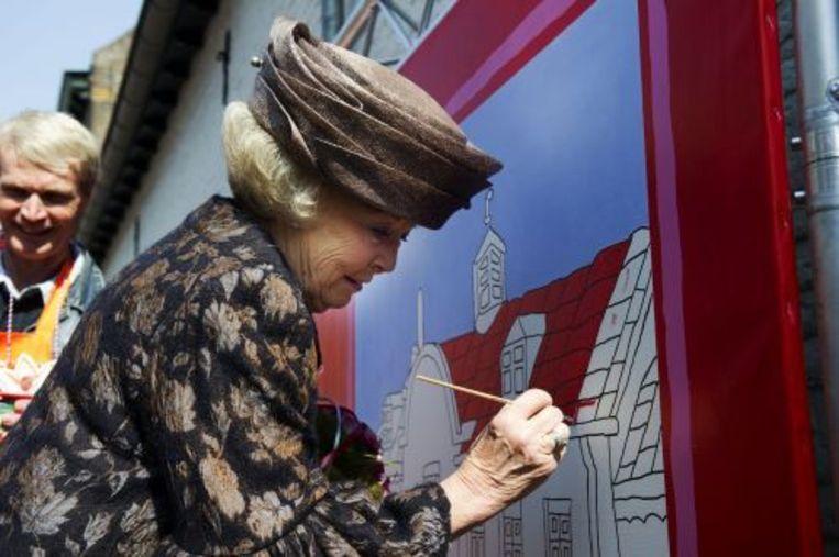 Koningin Beatrix in Thorn. ANP Beeld