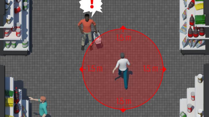 In deze 'old school game' draait álles om 1,5 meter afstand