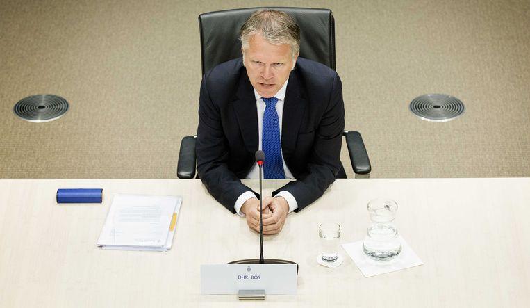 Wouter Bos, oud-minister van Financiën, verschijnt voor de parlementaire enquêtecommissie woningcorporaties. Beeld anp