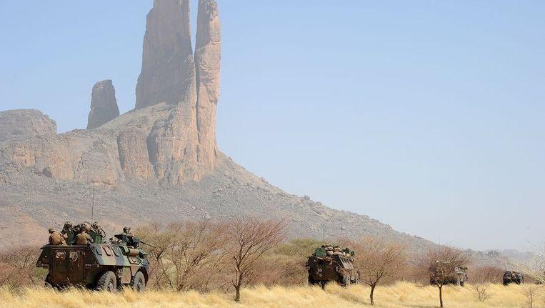 Franse militairen vlakbij Gao. Beeld afp