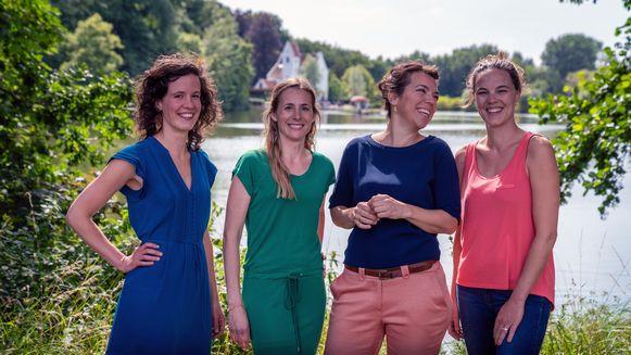 Vier jonge vrouwelijke krachten van Groen Oud-Heverlee gaan naar de gemeenteraad. Sarah D'Hertefelt, toekomstig schepen Hanna Van Steenkiste, Adinda Claessen en Josien Van Dyck