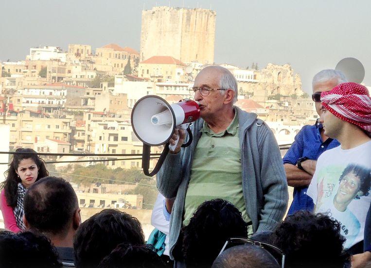 Pater Frans van der Lugt op archiefbeeld in Homs. Beeld anp