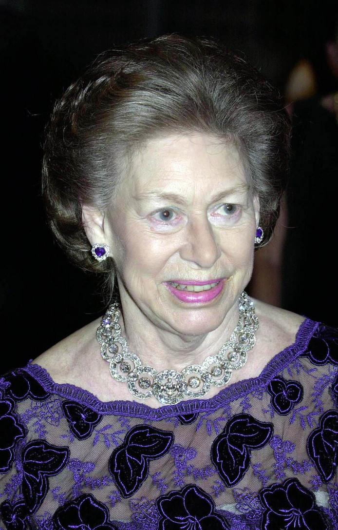 De Britse prinses Margaret, zus van koningin Elizabeth II.