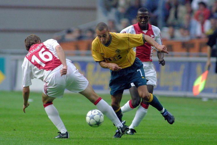 Ajax verloor op 8 augustus 2001 met 0-1 in de voorronde van de Champions League. Beeld Pro Shots