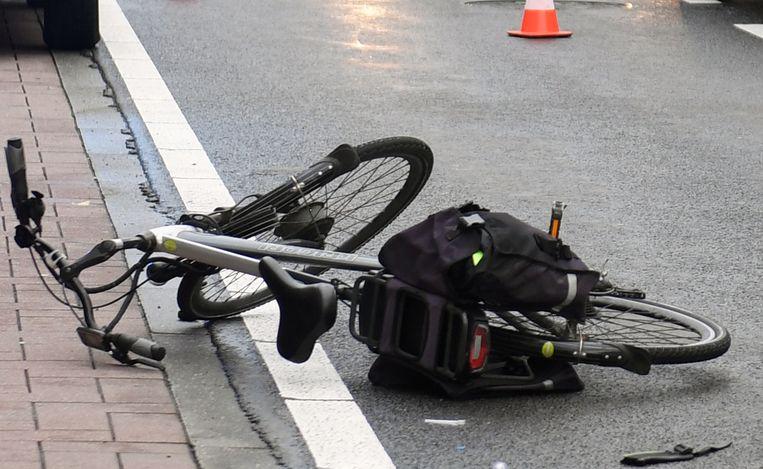 De elektrische fiets van het slachtoffer.