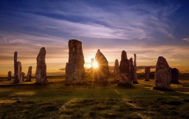 Stenen van Calanais op de Buiten-Hebriden