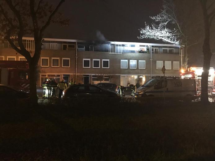 Brand in woning Prinsenbeek.