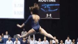 Gymnaste pakt op medley van Michael Jackson uit met sensationele grondoefening