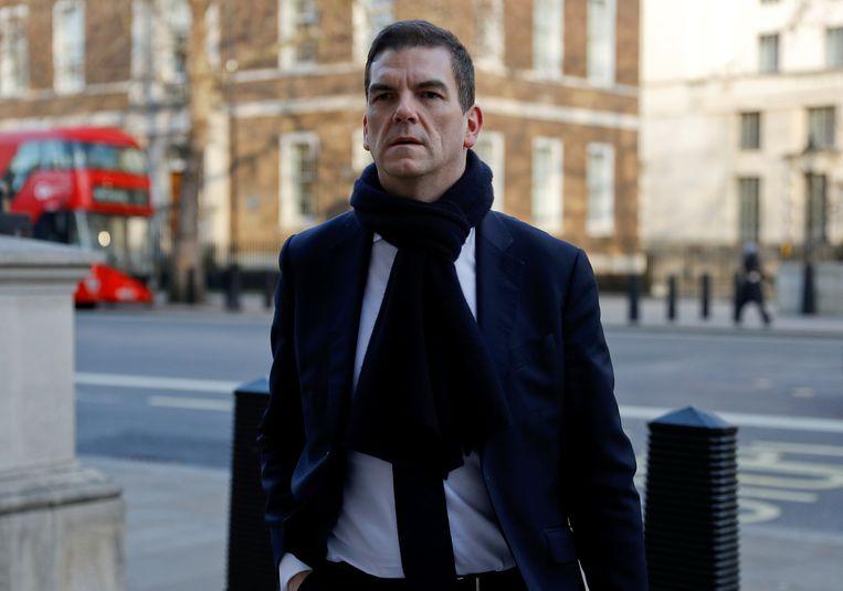 Olly Robbins, de belangrijkste Brexit-adviseur van premier May, arriveert voor overleg eind januari in Londen. Beeld REUTERS