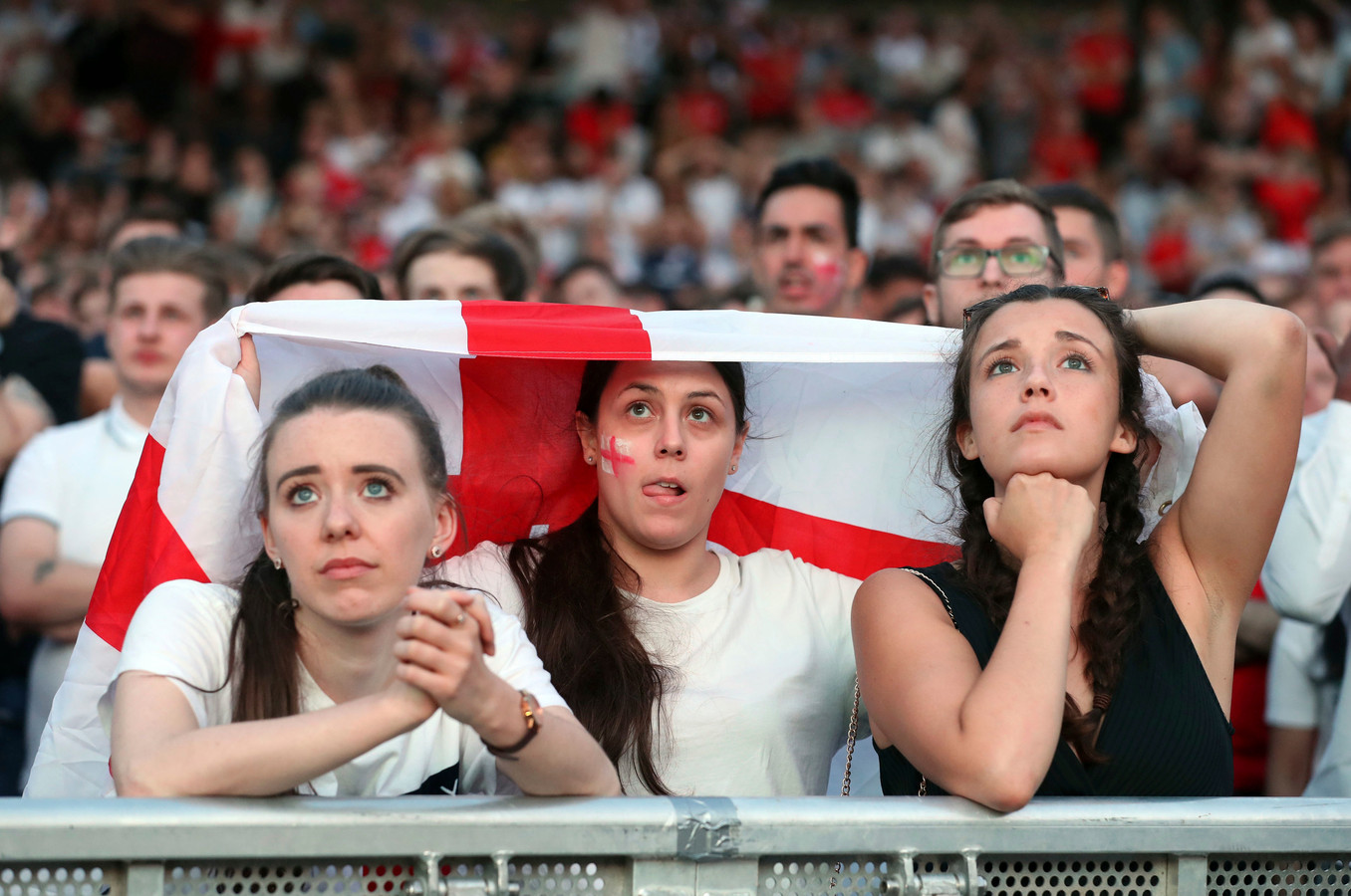 Engelse supporters in Manchester.