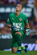 Jasper Cillessen tijdens de oefenwedstrijd tegen Inter Milan.