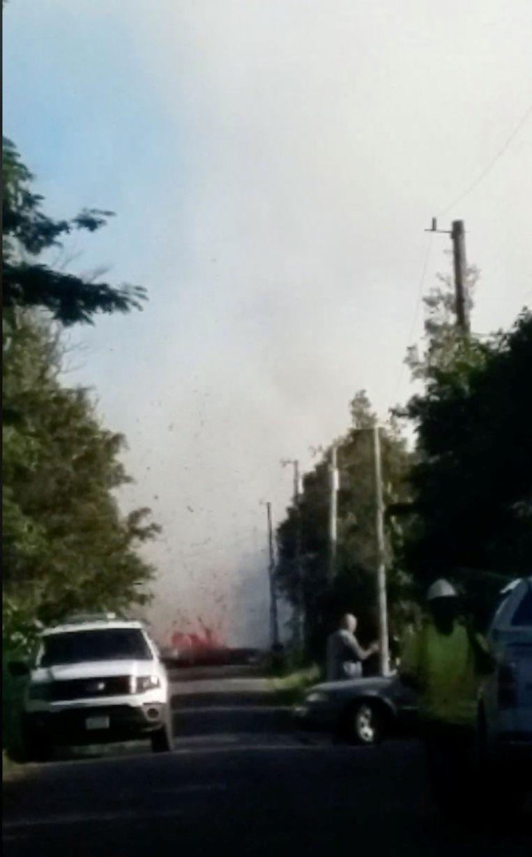 Lava in de straten van Big Island.