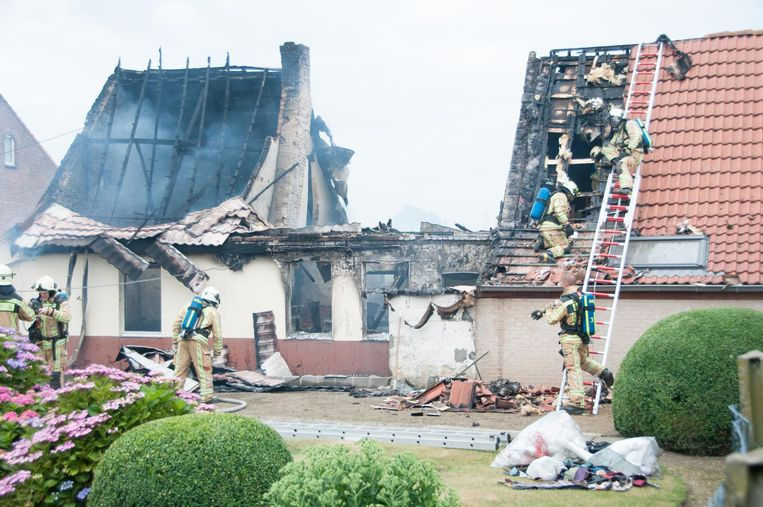 De woning van Simonne werd helemaal vernield.