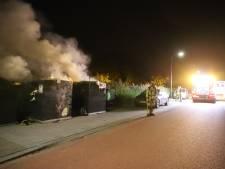 Twee vuilcontainers vermoedelijk in brand gestoken op het Jaagpad in Rijswijk
