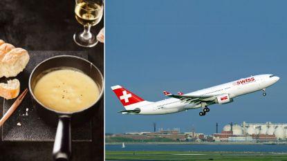 Passagiers Swiss Air kunnen voortaan kaasfondue bestellen tijdens hun vlucht