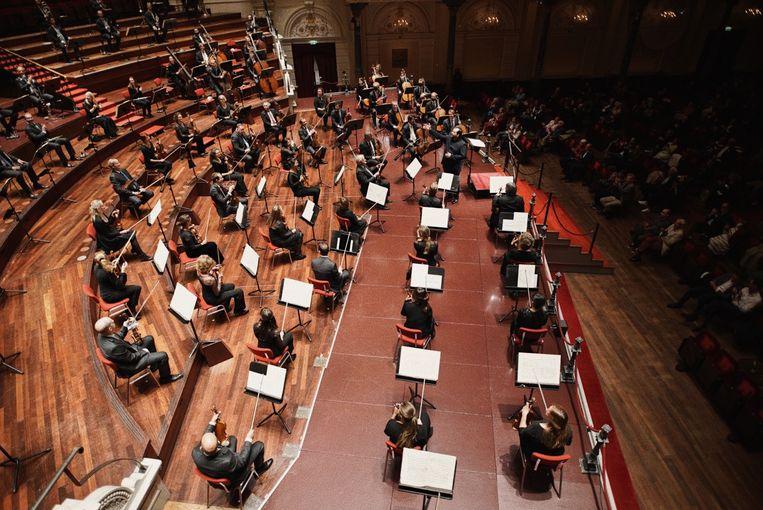 De nieuwe opstelling van het Koninklijk Concertgebouworkest. Beeld K2 Milagro Elstak