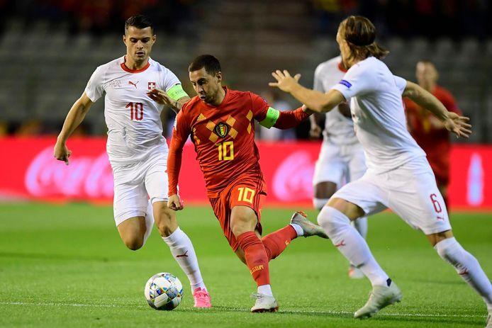 Eden Hazard face à la Suisse